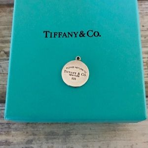 Tiffany & Co Sterling Silver Round Pendant Charm ✨